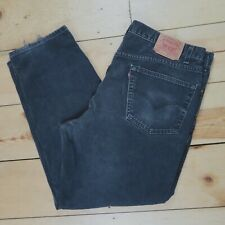 Levis 550 Relaxed Fit Men's Black Jeans Size 42x32 - Vintage USA Made