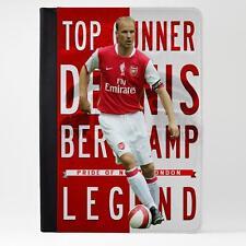 Bergkamp Arsenal De Cuero Funda Ipad Tableta Cubierta de la leyenda del fútbol regalo LG21