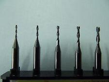 5 VHM  2-Schneider + Fräser + 1,5 mm + Modellbau + Dremel + Proxxon + CNC