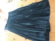 Mint Velvet Ink Satin Pleated Skirt Lined.  Size 12