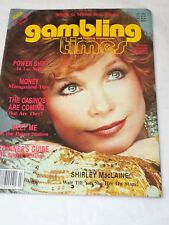 GAMBLING TIMES Shirley McClain Wait till you see Her JULY 1984