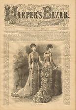 Victorian, Fashion, Ladies House Dresses, Vintage, 1879 Antique, Art, Print,