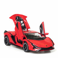 1:32 Lamborghini Sian FKP 37 Model Car Diecast Toy Vehicle Gift Collection Red