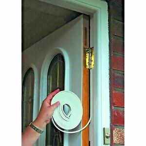 Foam Draught Weather Strip Gasket Excluder Window Door Seal White sponge soft