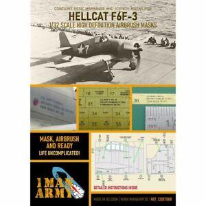 1 Man Army 1man32DET008 WH F6F 3 Early Hellcat 1/32
