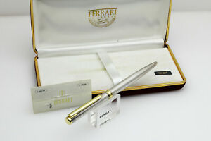 Ferrari Kugelschreiber massiv 925 Sterling Silver in OVP sehr exclusiv  (e136)