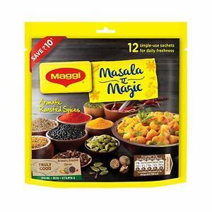 Nestlé Maggi Masala - e- Magic Taste Enhancer Indian Food Seasoning- 12 Sachets