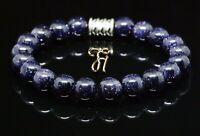 Blaufluss Armband Bracelet Perlenarmband blau 8mm