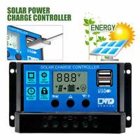 10/20/30A Controller Regolatore Di Carica Pannelli Solari 12V 24V Automatico USB