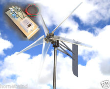 """KT Ghost 74"""" ALUMT 5 Blade Wind turbine 48 VAC 3-phase 6.3 kW FREE G4 Controller"""