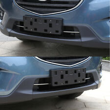 2PCS Stainless Steel Bumper Lower Grill Cover Trim For Mazda CX5 CX-5 2013-2016