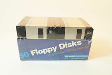 """New 50 Unbranded Floppy Disks 3.5"""" HD IBM Formatted Computer Discs  Sealed A4"""