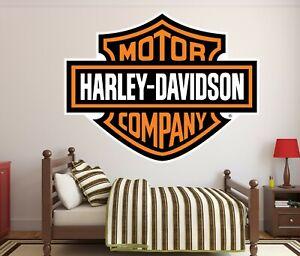 Harley Davidson Motor Company OG Logo Wall Decal. Decoration for houses.