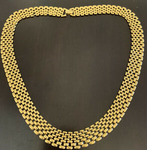 Napier PAT .1981/12 in/ Panther link  necklace.