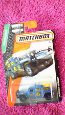 Matchbox (US Card) - 2015 - #109 Hummer with Ramp - Blue & Yellow