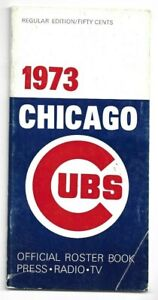 1973 Chicago Cubs Media Guide---Billy Williams   Good