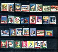 US  Christmas Seals - 30 Stamps - 28 different years - Early 1925, last 1974