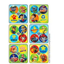 100 Paw Patrol MiniBadges STICKERS Party Favors for Birthday Treat Loot Bags