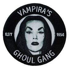 "Cult Classic ""Vampira's Ghoul Gang"" Show Fan Club Badge Iron-On Applique Patch"