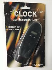 Clock with Emergency Light Pocket Size - Black- Free Shipping