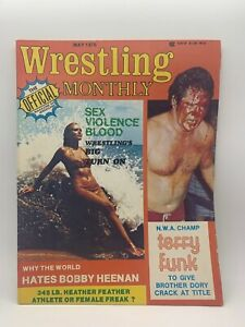 WWE Wrestling Monthly Magazine May 1976 Vintage WWF Terry Funk Heenan Rare WCW
