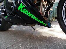 2 x Kawasaki Aufkleber - in NEON Grün - Größe: 28 x 6,3cm