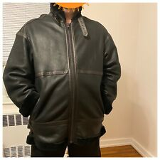 Shearling 100% Leather Oversized Moto Jacket Unisex Size Xxl