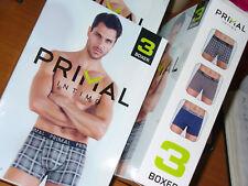 3 boxer PRIMAL cotone fantasie colorate Taglia 5/L elastico esterno art.B173