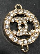 New listing Chanel Gold Rhinestone Zipper Pull 25mm