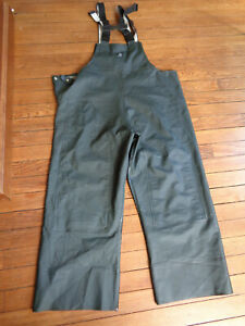 Carhartt Surrey PVC Bib Overalls Rain Pants Sz Large Waterproof 100101-300