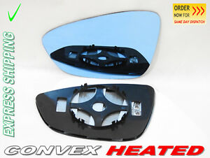 BLUE TINTED For VW Scirocco 2008-2016 Wing Mirror Glass Convex Left /1047