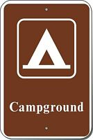 12x18 CAMPGROUND GUIDE Engineer Prismatic Grade Sign by Highway Traffic Supply