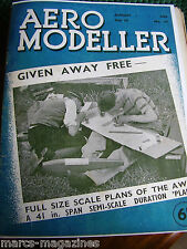 RARE AEROMODELLER AUGUST  1939  MODEL AIRCRAFT WITH A COPY COVER