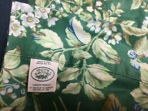 Vintage Laura Ashley-Bramble Berry Green CURTAIN PANEL, 40X85,FABRIC, LINED