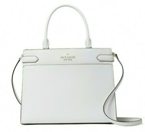 New Kate Spade New York Staci Large Satchel Leather White Dove