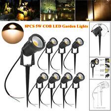 8PCS Outdoor LED Landscape Yard COB Lights 12-24V 5W Low Voltage IP65 Waterproof