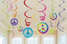 Amscan 60er Groovy Swirls Dekorationen