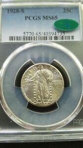 1928-S Standing Liberty Quarter * PCGS MS65 * CAC * Gem Beauty *