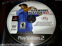 Tiger Woods PGA Golf Tour 07 PS2  Playstation Game Disc Only TESTED!!