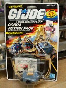 1987 Rope Crosser Cobra action pack GI Joe figure 3.75 new on card NOC complete