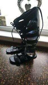 Knee Length Gladiators Sandals Size 5
