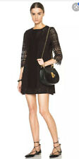 Vanessa Bruno Athe Black Lace Broderie Dress 36 Uk 8 Rrp £250