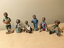 Lot of 6 Sarahs Attic black figurines