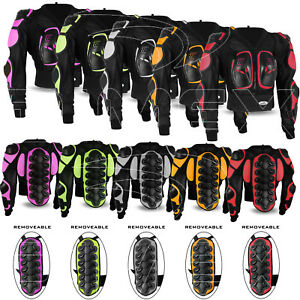 Ladies Motorcycle Body Armour Safety Jacket Motocross Motorbike Spine Protector