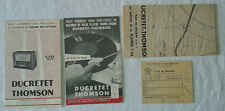 VINTAGE BROCHURE ADV PLAN DUCRETET THOMSON RADIO RECORD PLAYER TOURNE DISQUE