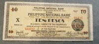 Philippine 10 Pesos 1941 Emergency Currency Negros Occidental