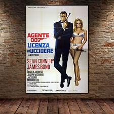 Original Poster 007 James Bond Doctor No - Licenza Di Uccidere 140x200 CM
