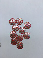 NEW 10PCS 14MM Red VW Remote Flip Key Fob Case Logo Badge Sticker Emblem