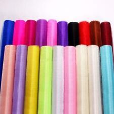 5M 10M Tulle Roll Crystal Fabric Organza Tulle Roll Spool Wedding Decoration Bir