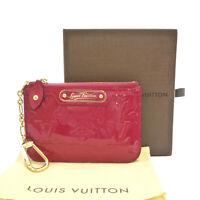 Auth LOUIS VUITTON Vernis Pochette Cles Coin Purse Pomme D'amour M93559 #S306112